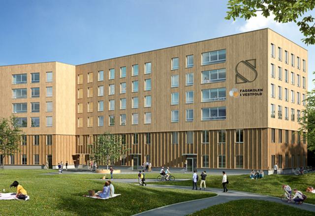 Fagskolen i nye lokaler på Bakkenteigen, Campus Vestfold